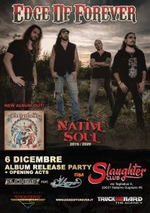Edge of Forever - Native Soul Release Party - Slaughter Club